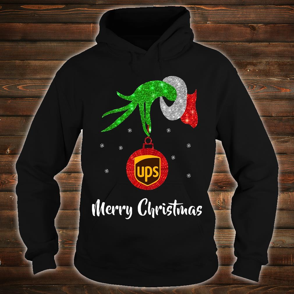 Grinch hand UPS Merry Christmas shirt hoodie