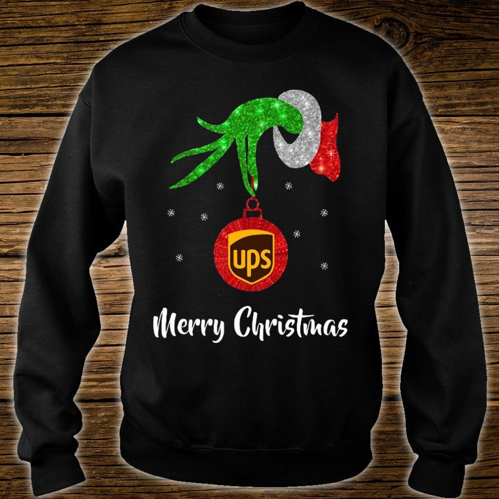 Grinch hand UPS Merry Christmas shirt sweater