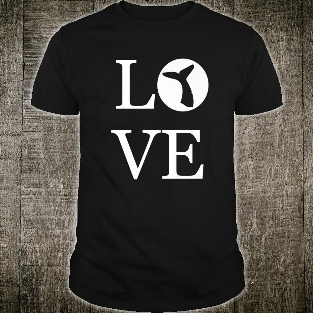 I Love Whales Silhouette Whale Tail Ocean Animal Shirt