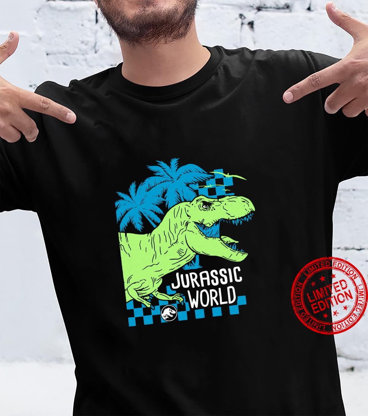 Jurassic World TRex Roaring Neon Side Profile Shirt