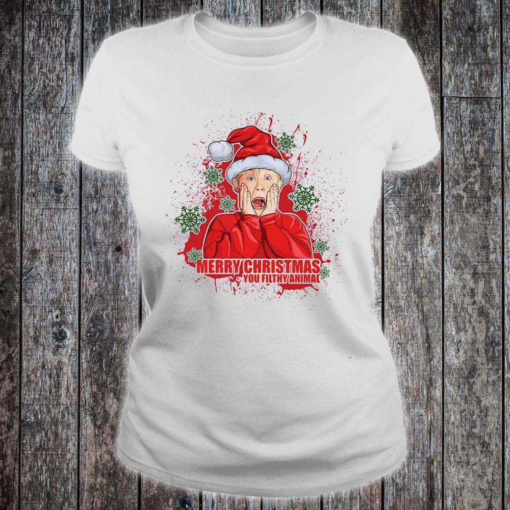 Merry Christmas you filthy animal shirt ladies tee