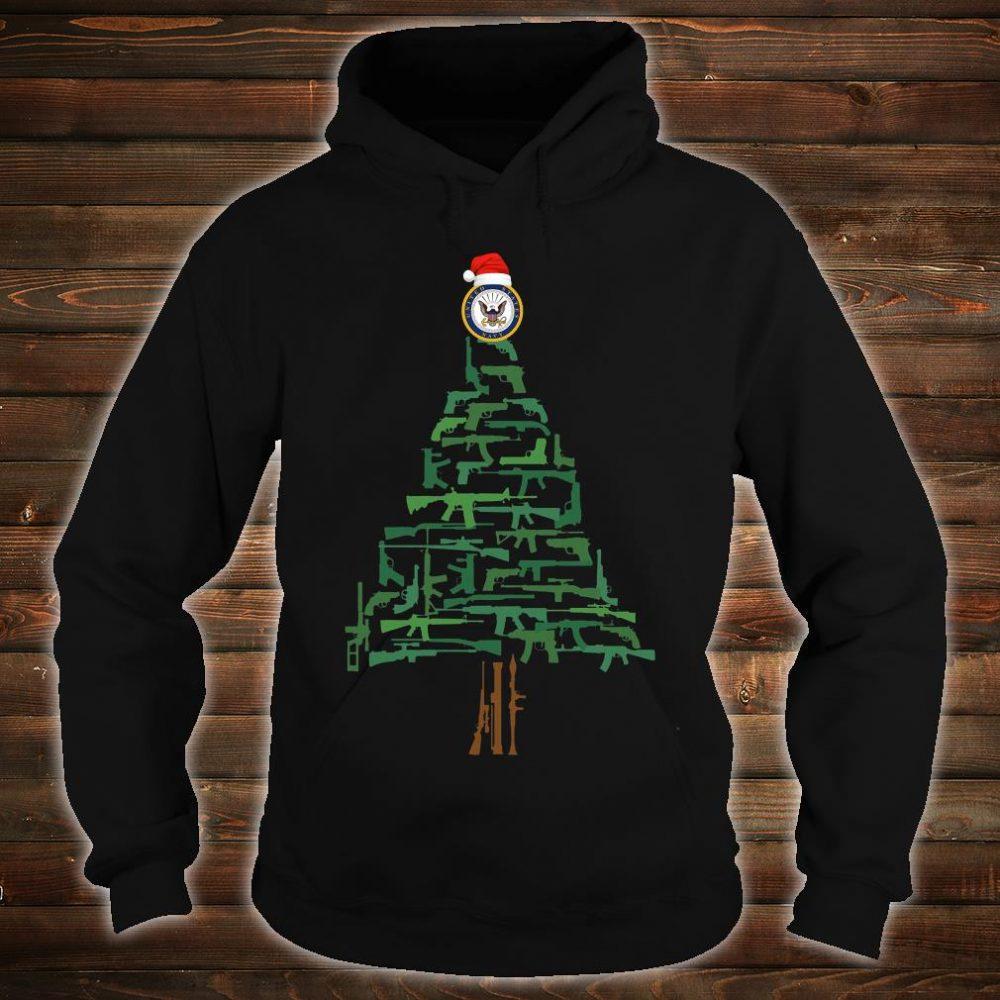 Navy guns christmas tree shirt hoodie
