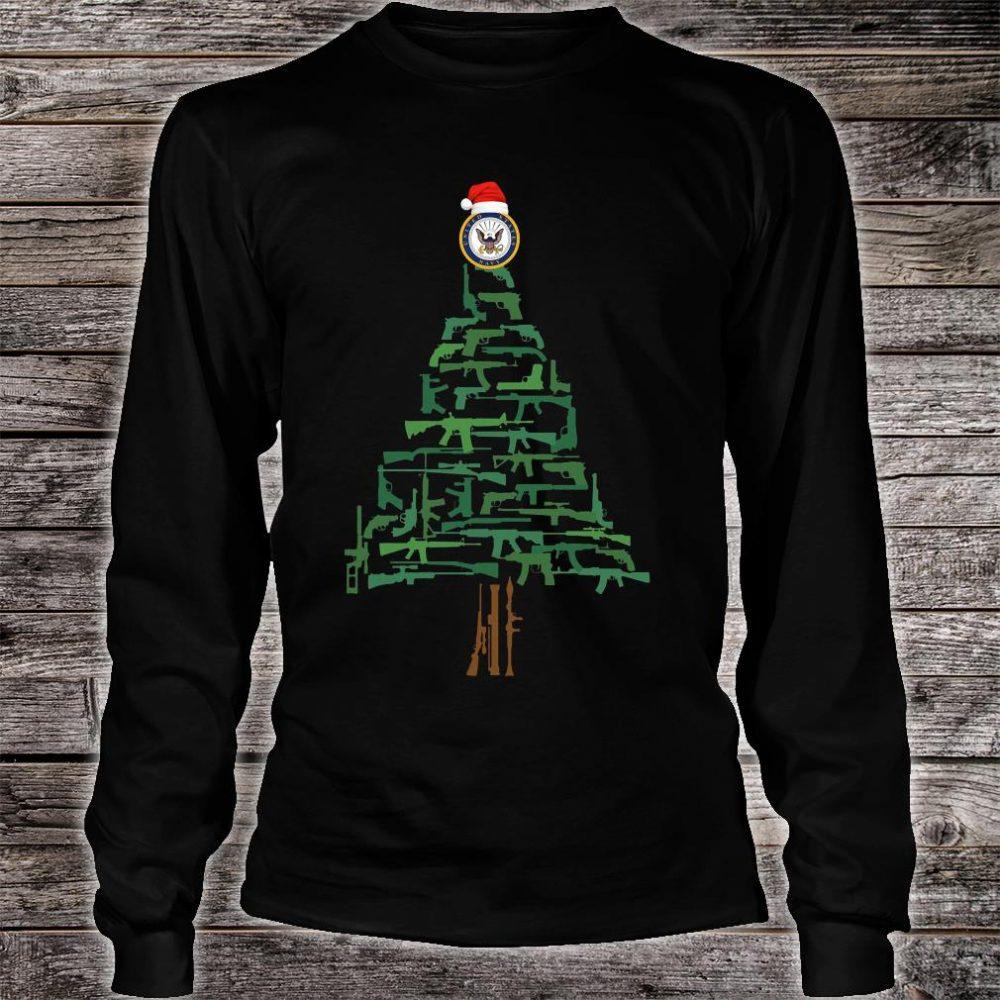 Navy guns christmas tree shirt long sleeved