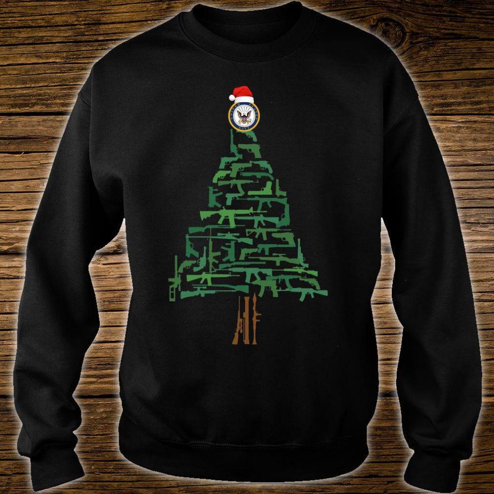 Navy guns christmas tree shirt sweater