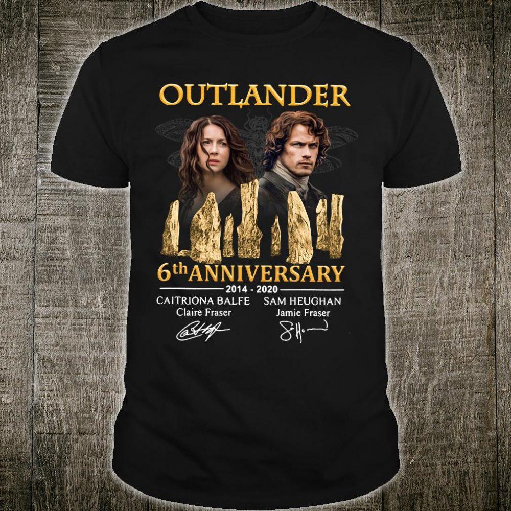 Outlander 6th anniversary 2014 2020 signatures shirt