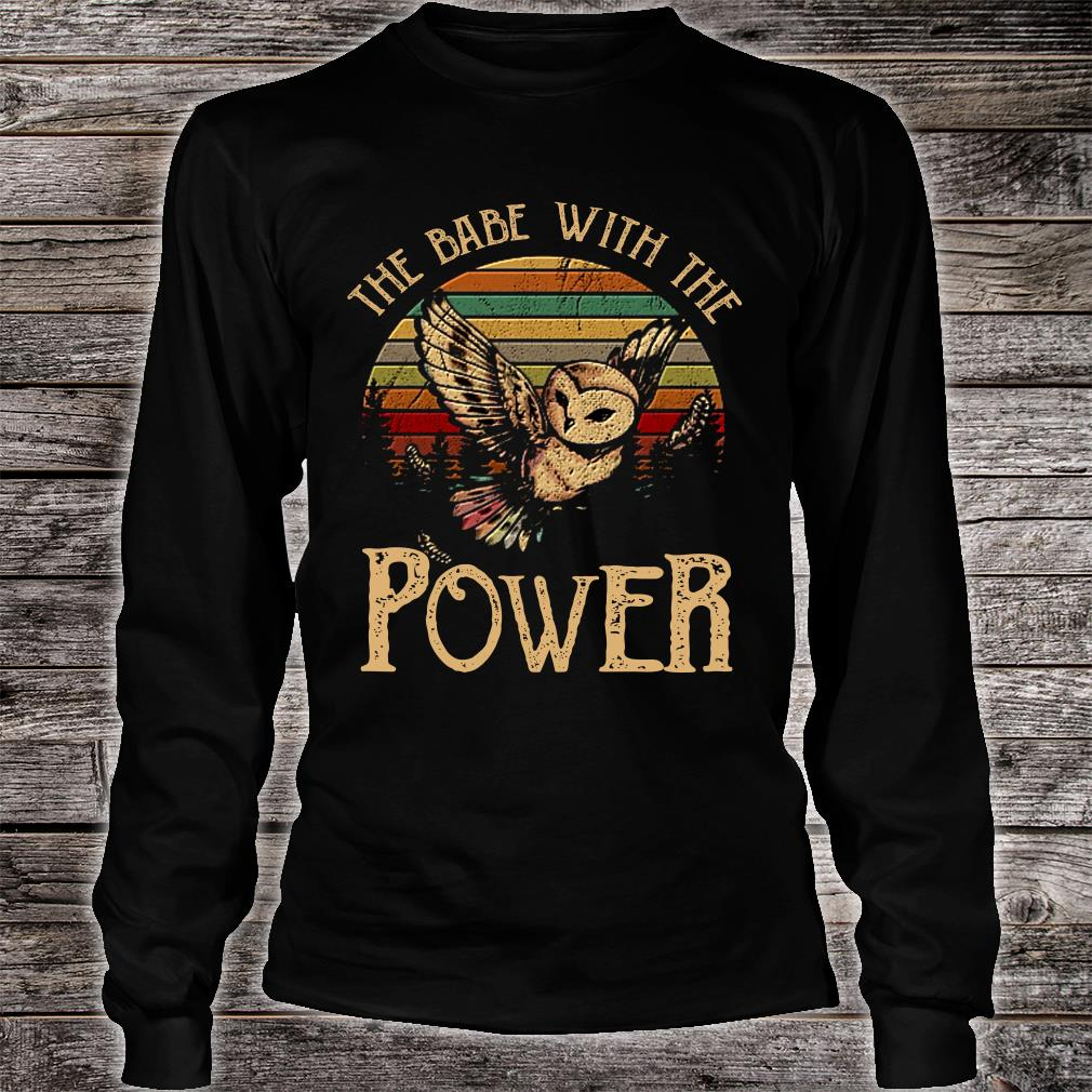 SPECIAL Owl the babe with the power shirt long sleeved