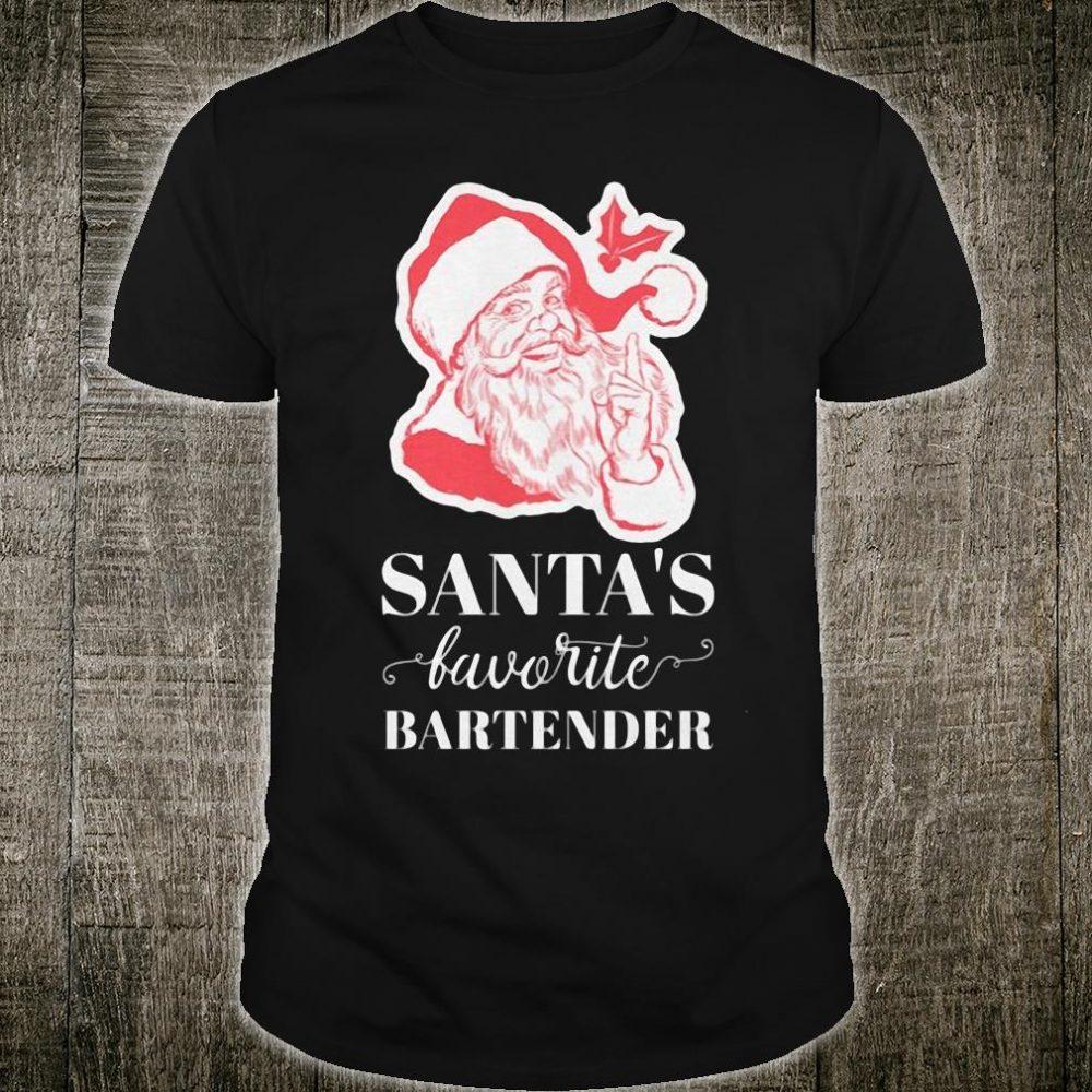 Santa's favorite bartender shirt