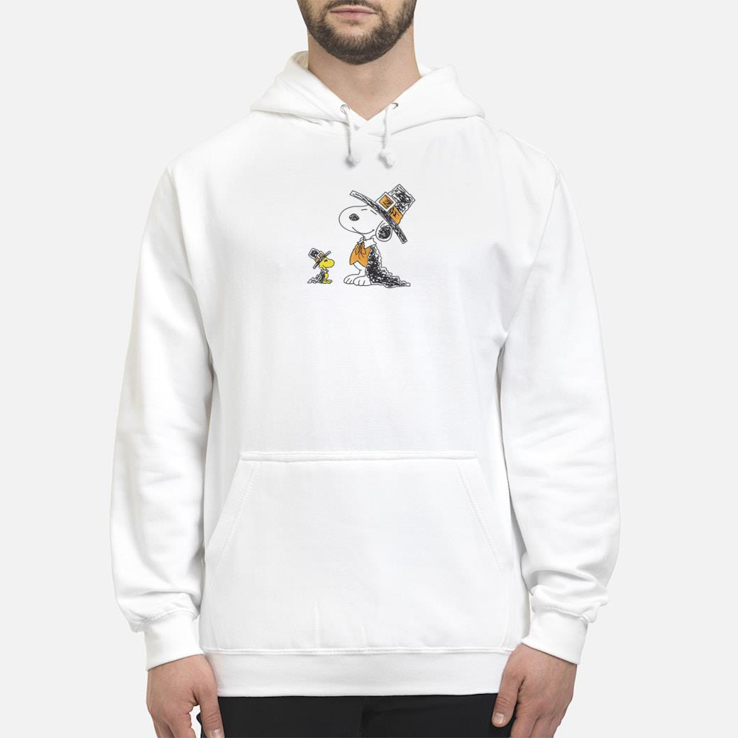 Snoopy and Woodstock shirt hoodie