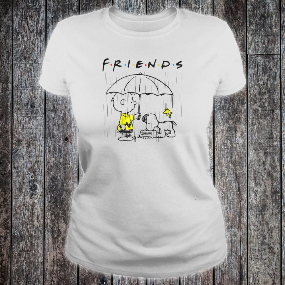 Snoopy and friends Friends TV show shirt ladies tee