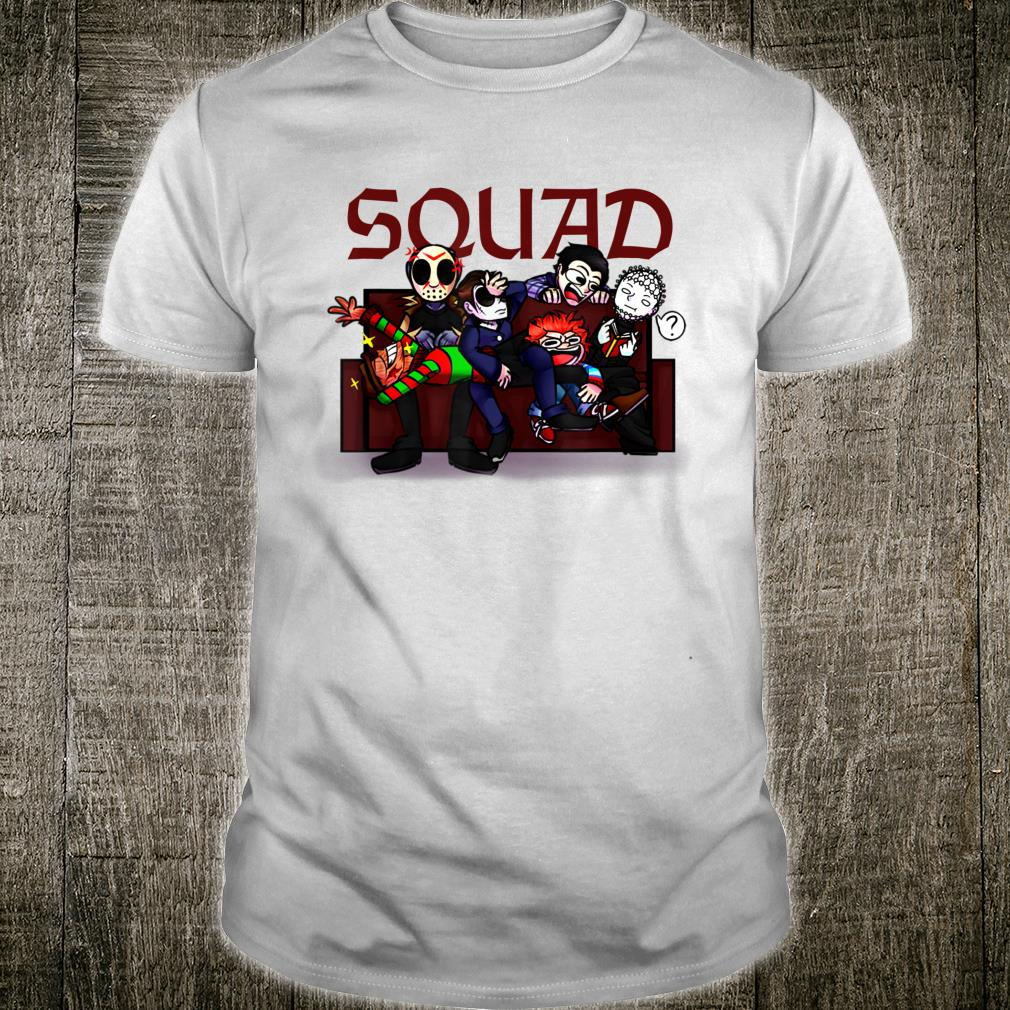 Squad Halloween Horror Scary Distressed Costume Shirt
