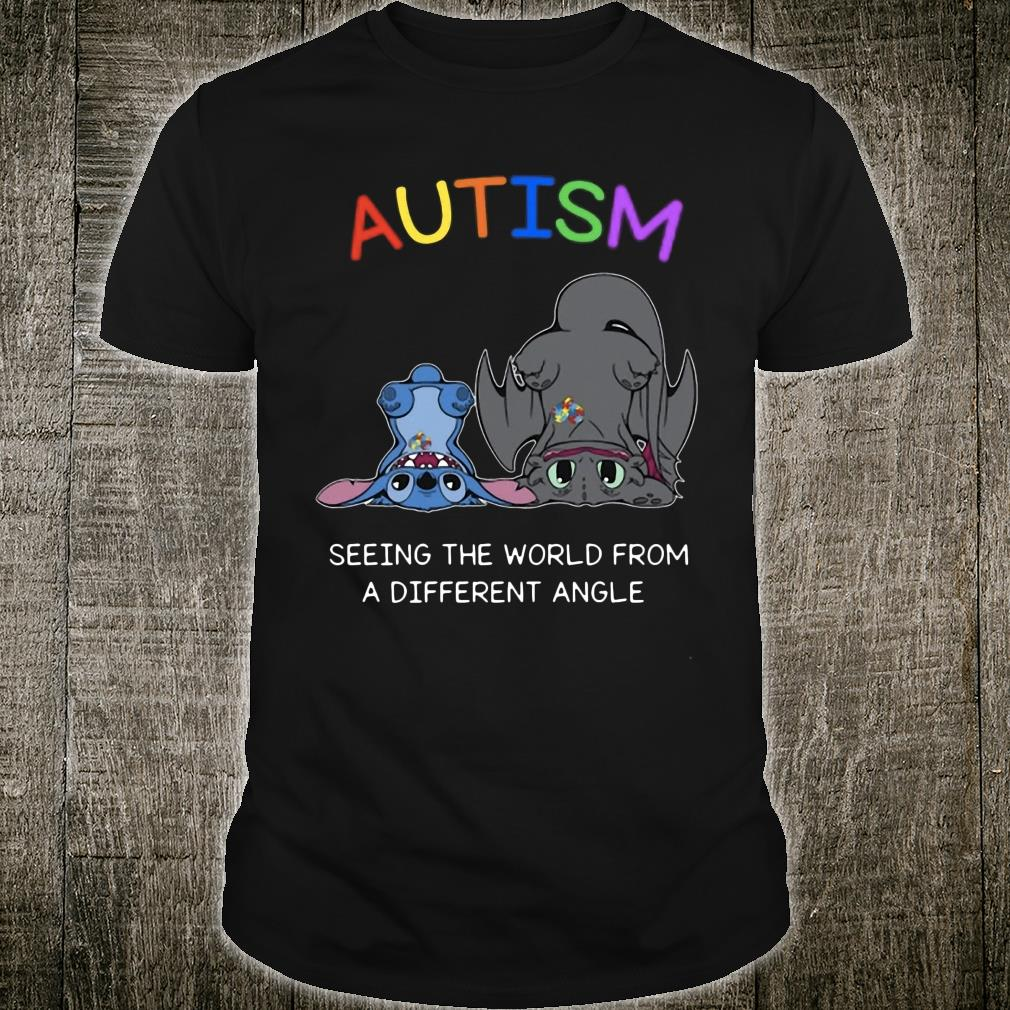Stitch And Toothless Autism seeing the world from different angle shirt