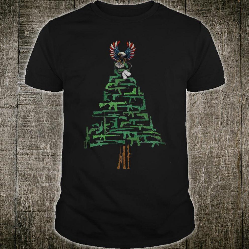 Veteran Christmas tree shirt