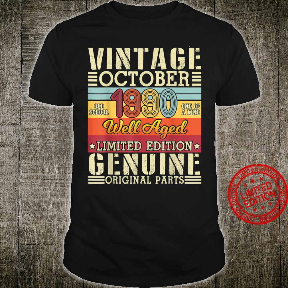 Vintage October 1990 Well Aged Limited Edition Original Part Shirt